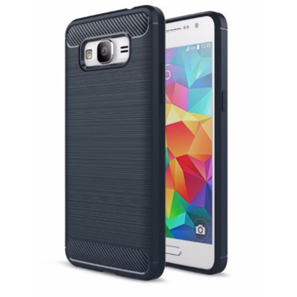 Softcase Ipaky Carbon Fiber Shockproof Hybrid Case for Samsung Galaxy J2Prime - Hitam