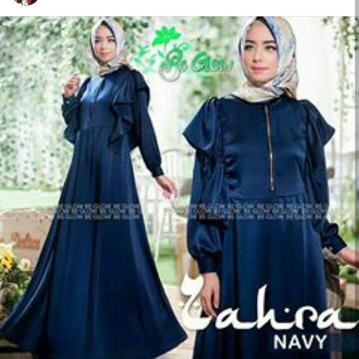 Baju Original Zahra Dress Balotely Gamis Panjang Maxy Wanita Muslim Fashion Modern Pakaian Cewek Muslimah Hijab Murah