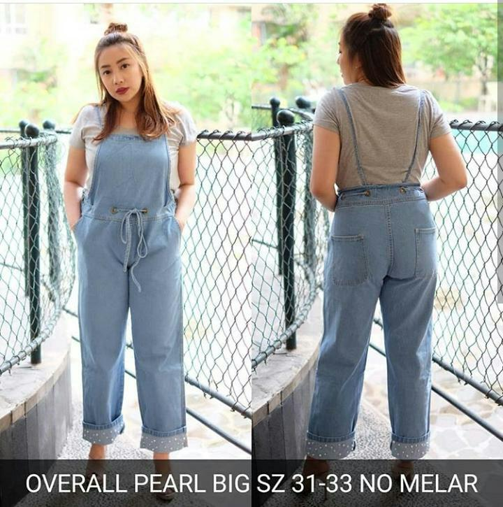 Overall pearl Big PROMO TERMURAH!! Celana Jeans Overall Murah Bigsize Jumbo Brave jeans