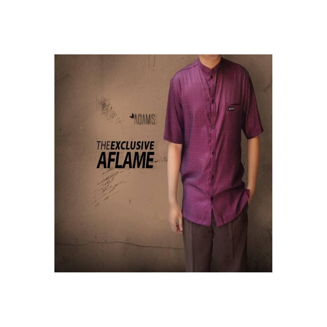 Baju Koko Muslim Eksklusif-Baju Muslim Pria Adam's Bandung-TES Maroon
