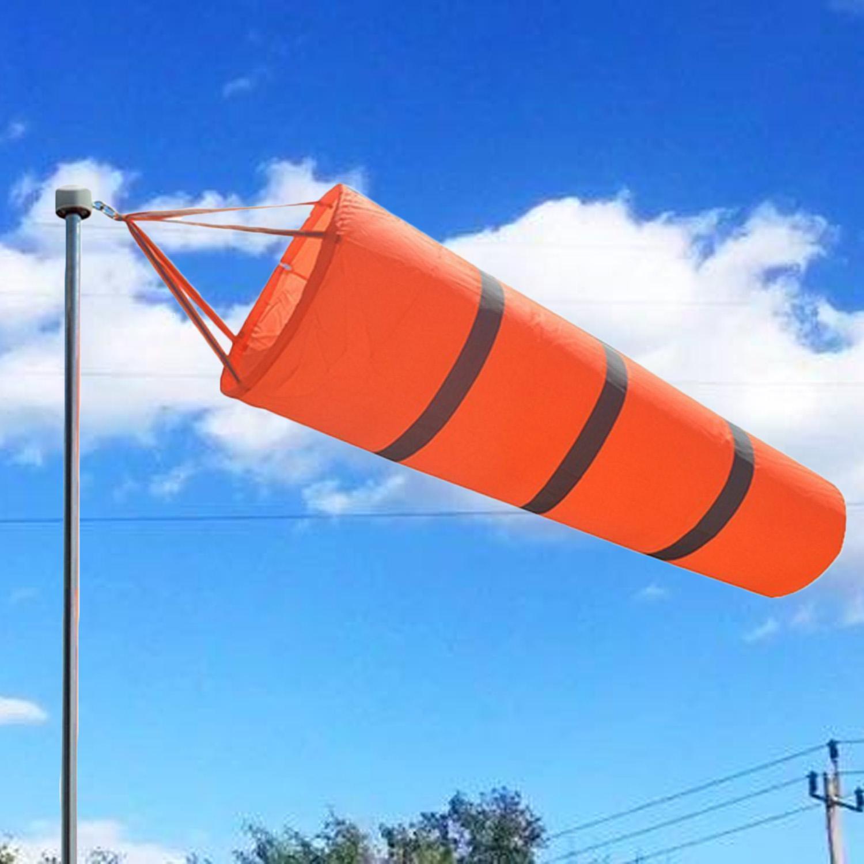 39.37 Inci Bandara Windsock Outdoor Weather Vane Pengukuran Angin Kantung Kaus Kaki dengan Sabuk Reflektif-Internasional