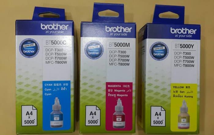TERLARIS BROTHER TINTA REFILL/BOTOL BT5000C/M/Y ORIGINAL/DCP-T300 PROMO