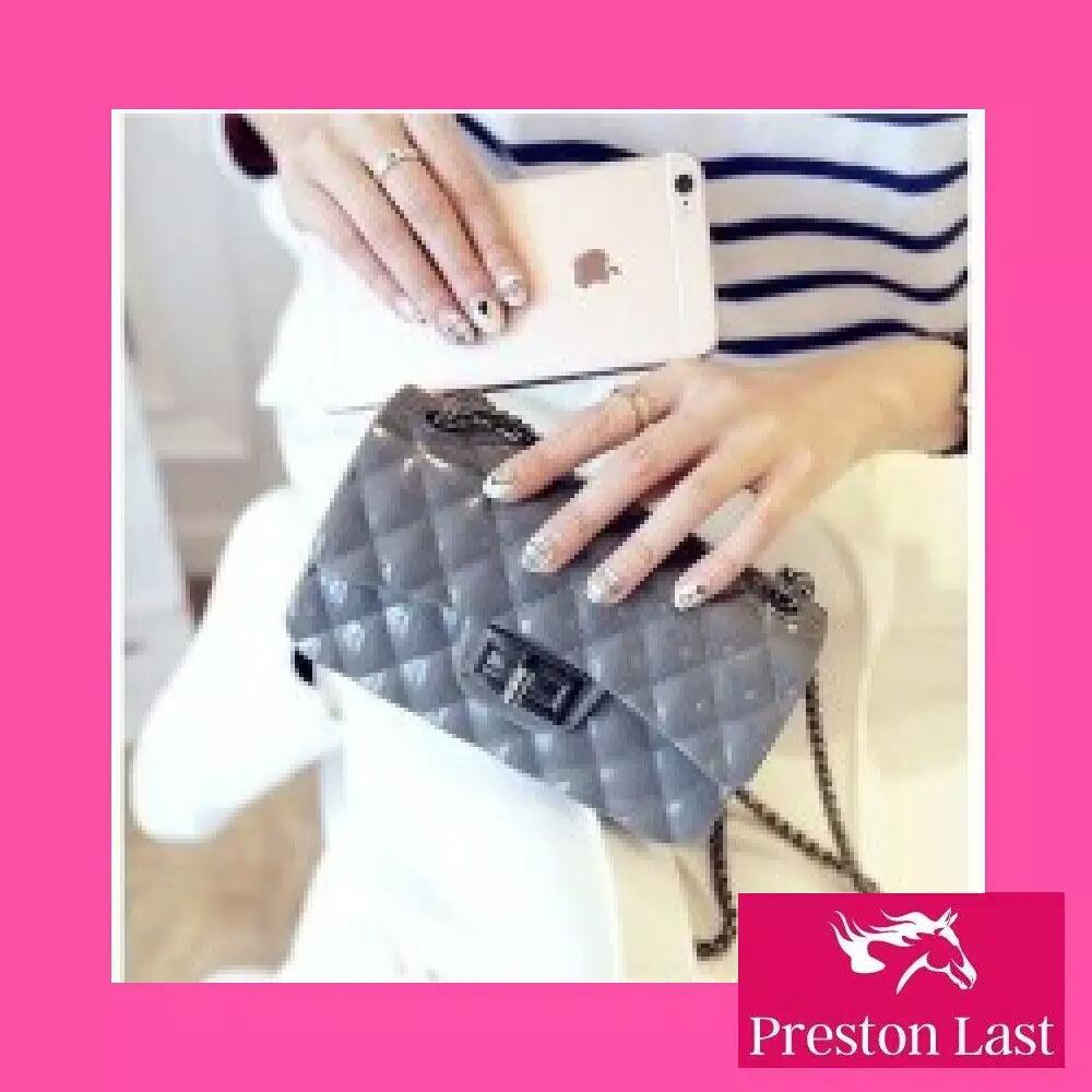 Aksesori Tas Wanita Terbaru Hand Bag Lv Alma Mini Preston Last Jelly Import Murah Batam Premium Rantai Hitam