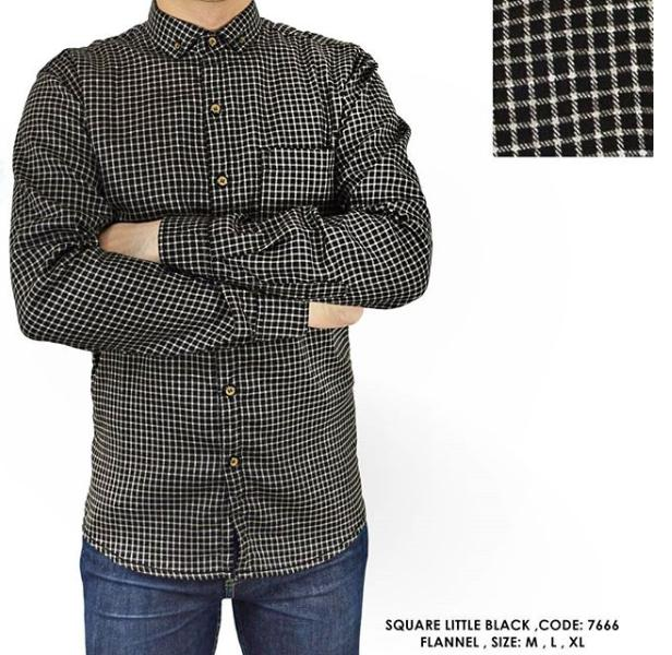van shirt store | BAJU KEMEJA KOTAK-KOTAK |  BAJU KEMEJA LENGAN PANJANG  | BAJU KEMEJA SEMI FORMAL | BAJU KEMEJA FLANEL | SQUARE LITTLE BLACK  FLANNEL SHIRT
