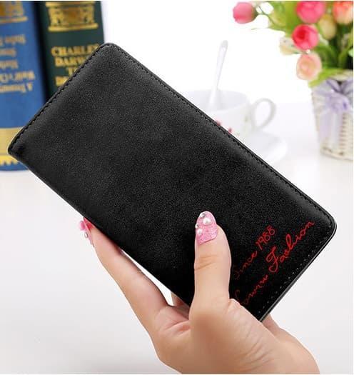 BEST SELLER dompet wanita basic panjang Korean purse retro lady long wallet bdo057 - pink -