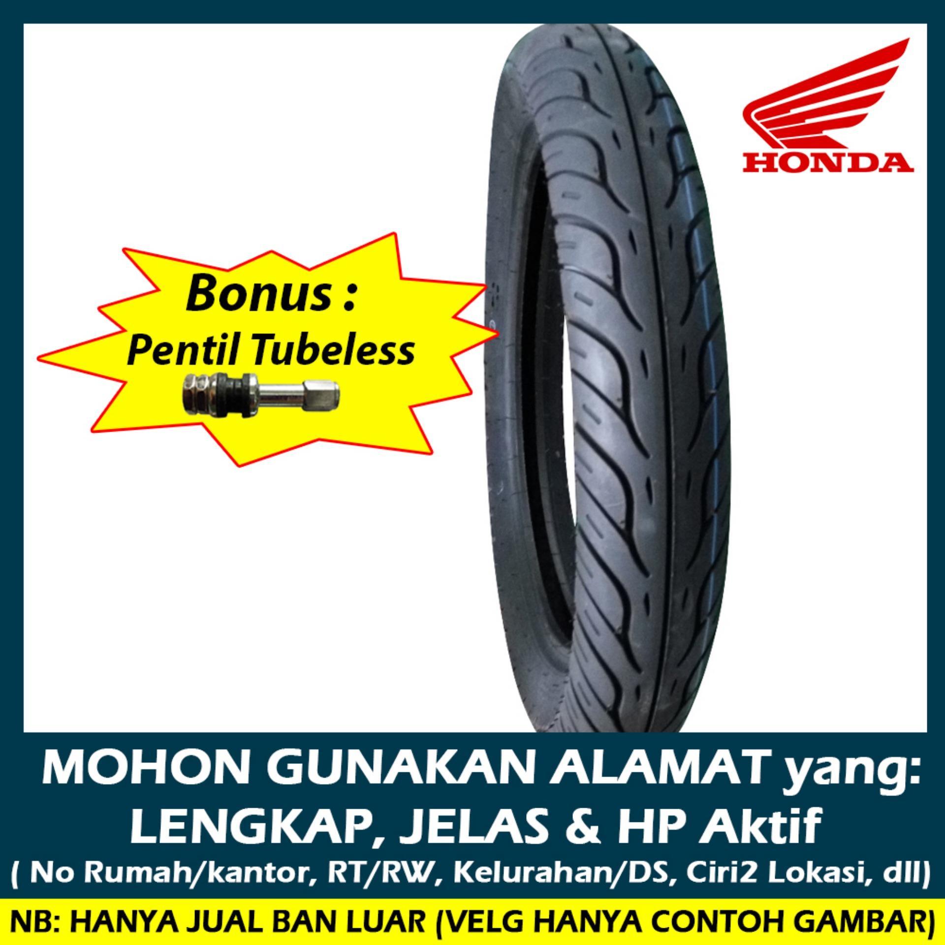 Buy Sell Cheapest Pentil Ban Velg Best Quality Product Deals Tutup Hijau Nitrogen Segi 6 Ahm K59 80 90 14 Tubeless Resmi Matic Honda Free