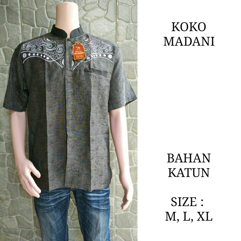 Koko madani - koko - koko batik - baju koko - batik - batik pria - batik kantor - seragam batik di lapak Batik Gaul Pekalongan nur_janah2611