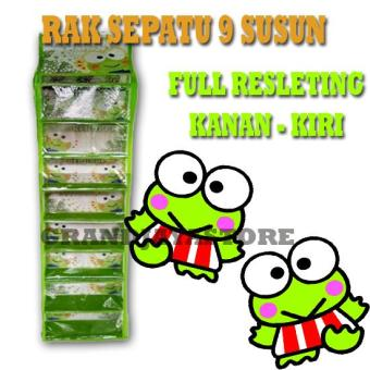 Harga preferensial Rak sepatu gantung sleting / hanging shoes organizer (HSO) / hanger sepatu - Keropi beli sekarang - Hanya Rp21.140