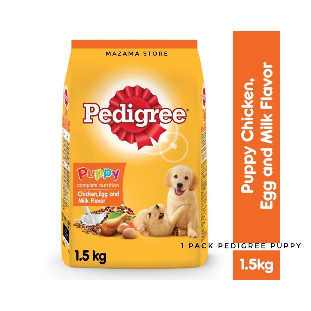 1 Pack Pedigree Dog Food Puppy Chicken, Egg And Milk Flavor Net 1,5 Kg / Dog Food / Pedigree Dog Food / Makanan Untuk Anak Anjing / Makanan Kering Untuk Anjing Puppy / Puppy Dog Food