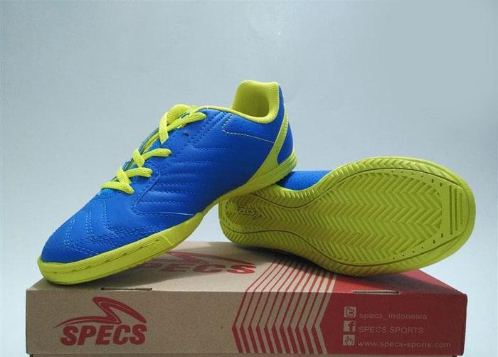 Sepatu Futsal Anak Specs Brave IN JR 400434 Tulip Blue Original