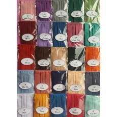 (6 pcs) Masker kain cotton tali sambung satu Multifungsi warna polos