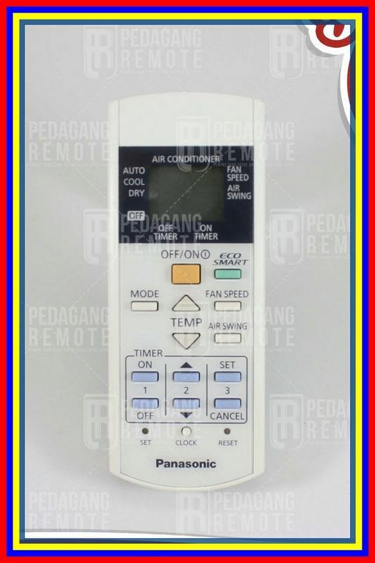 Remot Remote Ac Panasonic Eco Smart A75C4155 & A75C3996 Ori Original