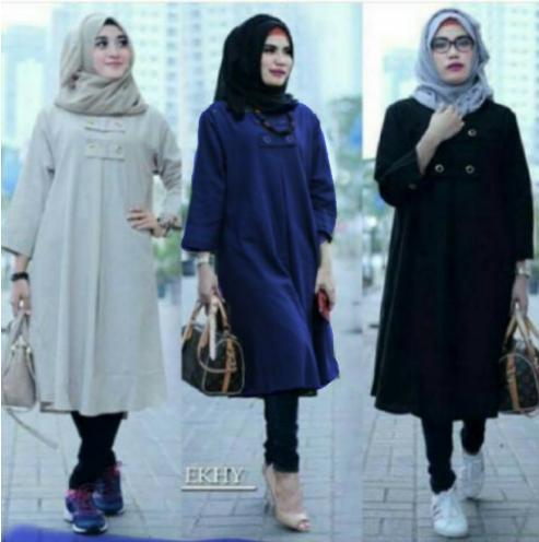 Baju Atasan Blouse Wanita Baju Muslim Blus Muslim Ekhy Tunik / baju / baju wanita / baju atasan wanita / baju motif / baju murah / baju keren / baju lucu / baju berkualitas