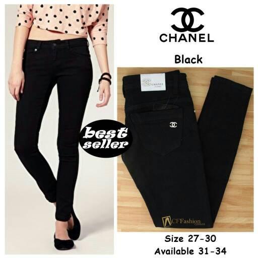 celana jeans chanel cewek / wanita slimfit termurah