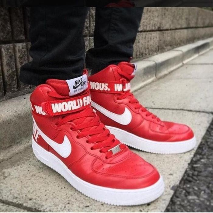 Nike Air Force High x Supreme Red Premium Original / sepatu nike - Q6gWDB