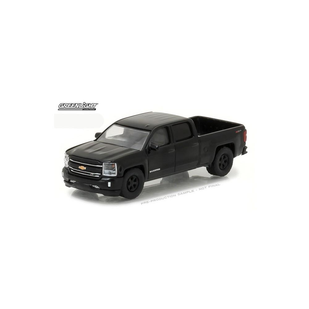 DIECAST GREENLIGHT CHEVROLET SILVERADO 1500 PICK UP TRUCK 1:64 BLACK BANDIT