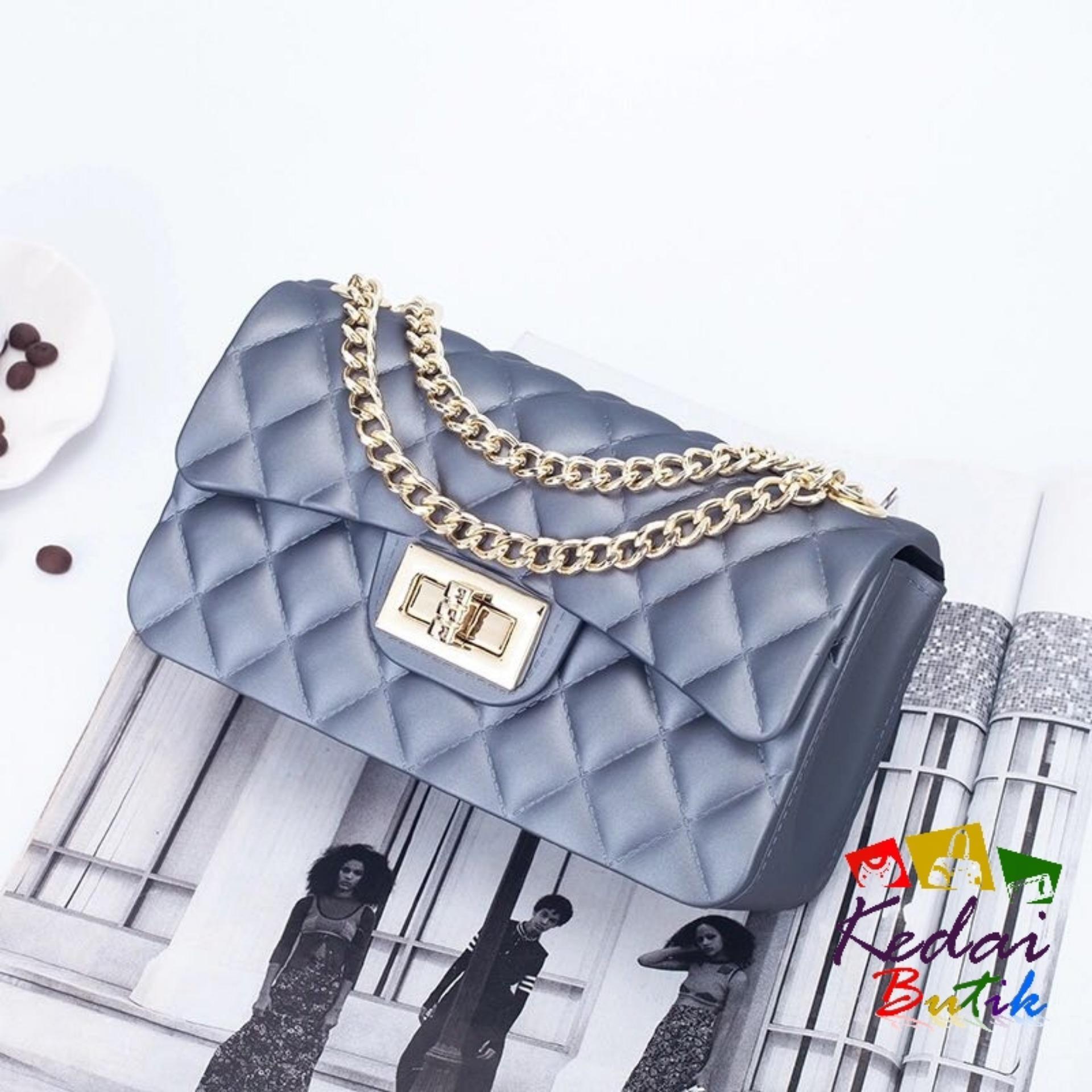 Kedaibutik-002 KECIL Tas Jelly Matte Maxi channel   Tas Jelly Murah   Tas  Jelly bb5bdf06d9