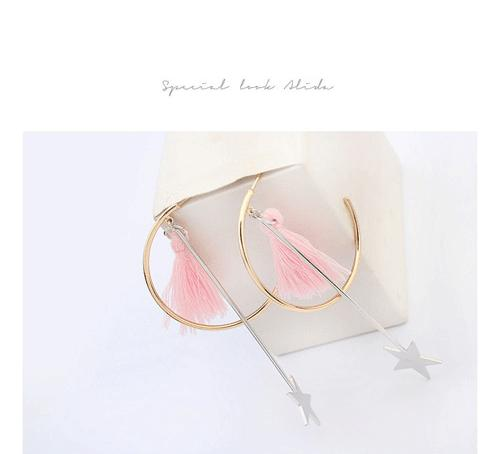 anting panjang bintang new star half ring earrings jewelry jan090