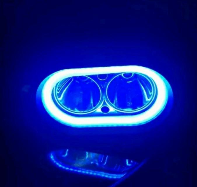 Lampu Tembak Cree 2 Led 30 watt Model Owl 8Mode sorot 2 mata titik