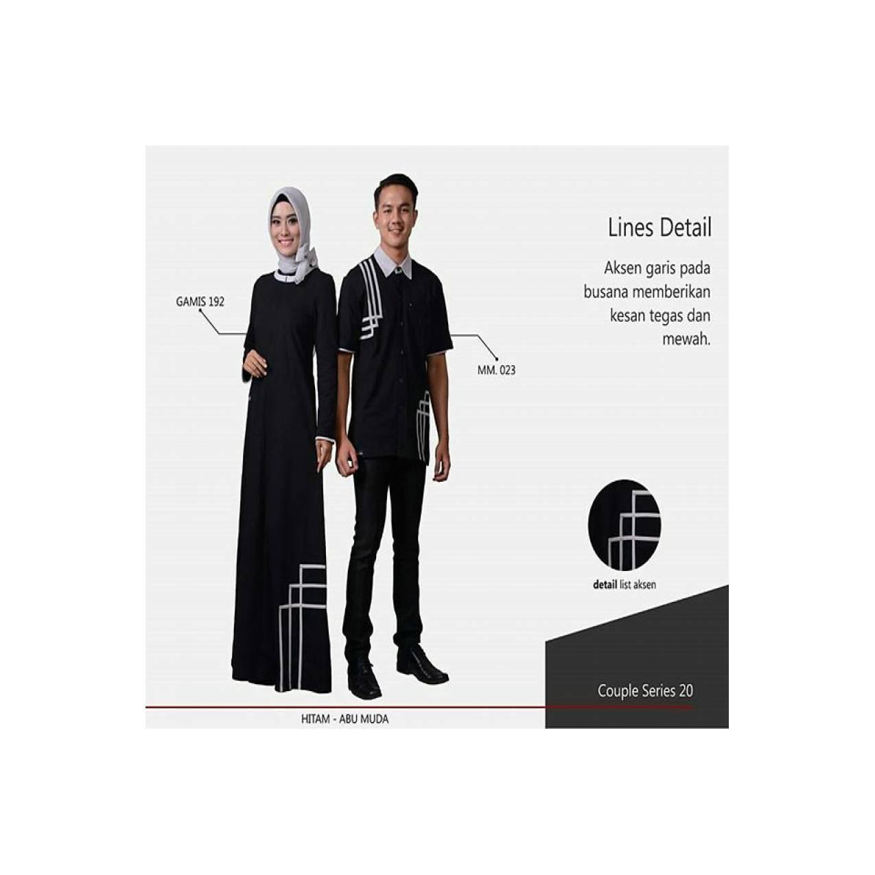 sarimbit New mutif baju koko dan gamis - fashion muslim - couple