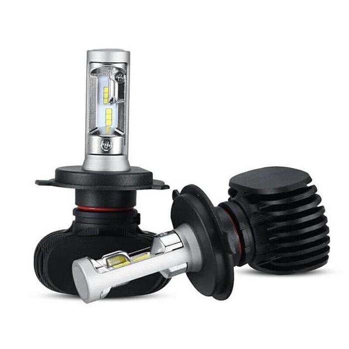 LED H4 CREE Hi/Low 8000LM 50W 6500K CSP Model Terbaru Tanpa Fan | ( lampu  mobil hid plafon depan rem sorot led h4 kabut fog lamp tembak variasi strobo rem toyota innova hid avanza osram )