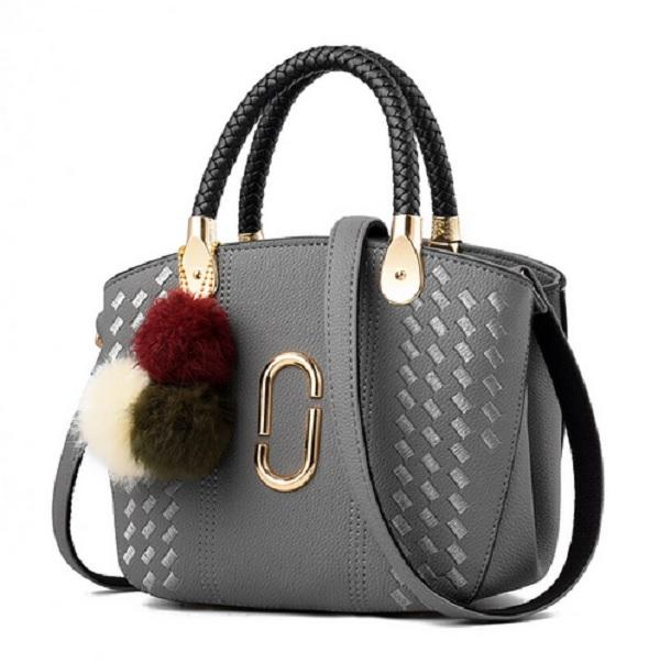 Jual Tas Handbag Selempang Fashion Wanita Import Tali Panjang Gantungan Black Pink Gray Harga Rp 220.000