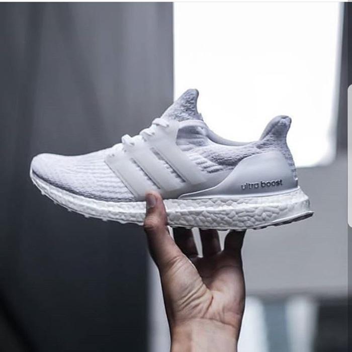 Adidas Ultra Boost 3.0 Triple White  Premium Original / sepatu fitness - WgPh2W