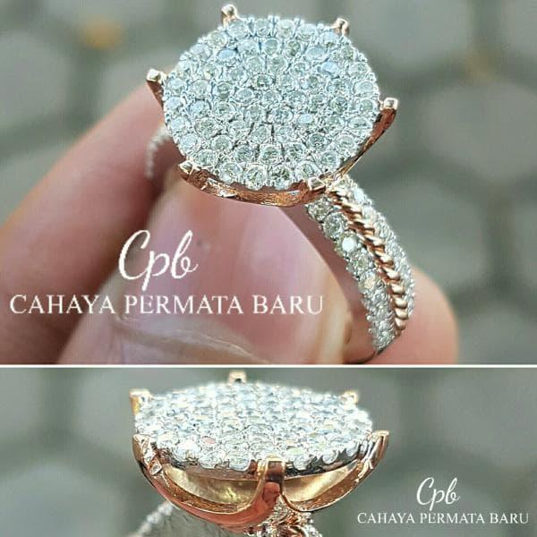Cincin Berlian 0.99 Carat Ring Emas 40 % 7.60 Gram Fashion Wanita