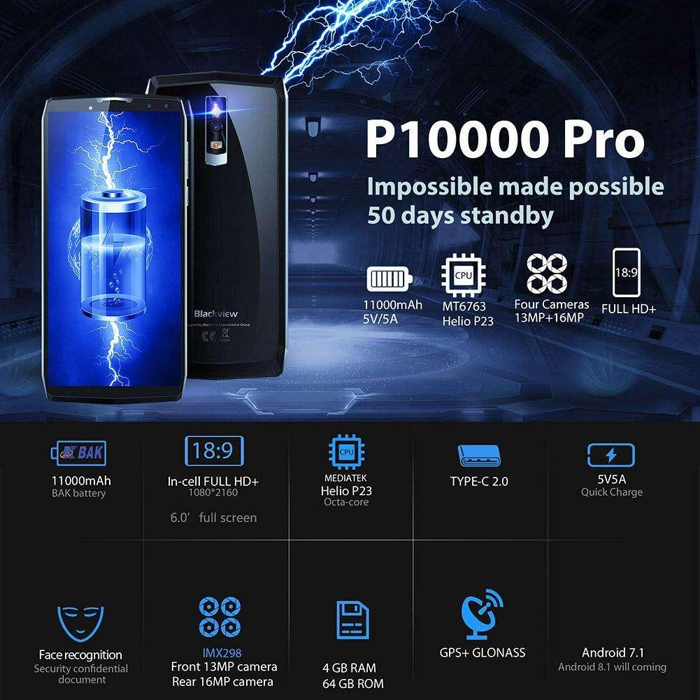 BLACKVIEW P10000 PRO 64GB RAM 4GB - NEW - BNIB - 100% ORI