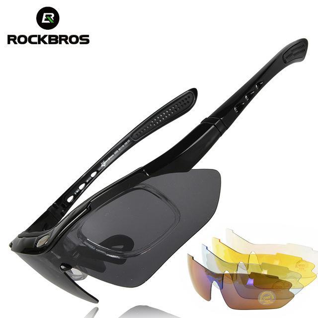 ROCKBROS Bersepeda Kolam Kacamata Terpolarisasi Kacamata Hitam Kacamata 5  Lensa 461c8e970e