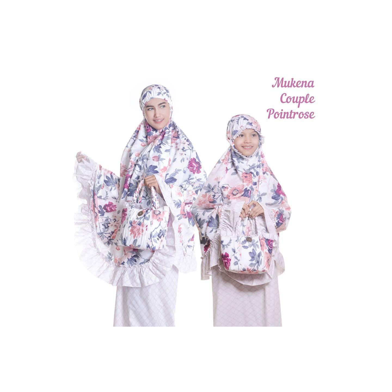 Mukenah Couple Katun Jepang PointRose 40 Ibu & Anak 41