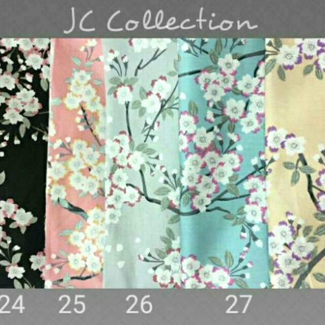 CBF 24-28 ~ Kain Katun Jepang Japan Design Japan Cotton Ori Tokai Senko Lebar Besar per 0.5 meter Small Polka Silver