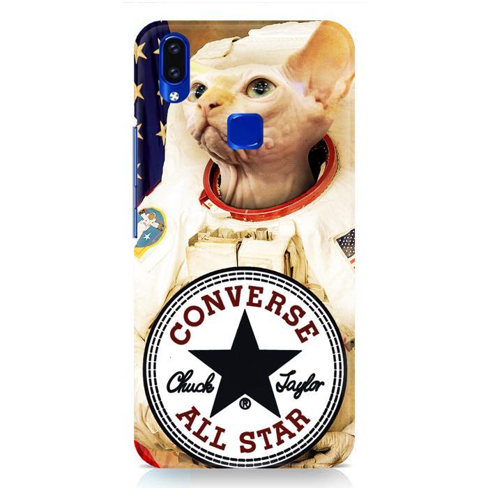 Casing Hardcase Vivo V9 Motif Astronaut Cat Converse W3097