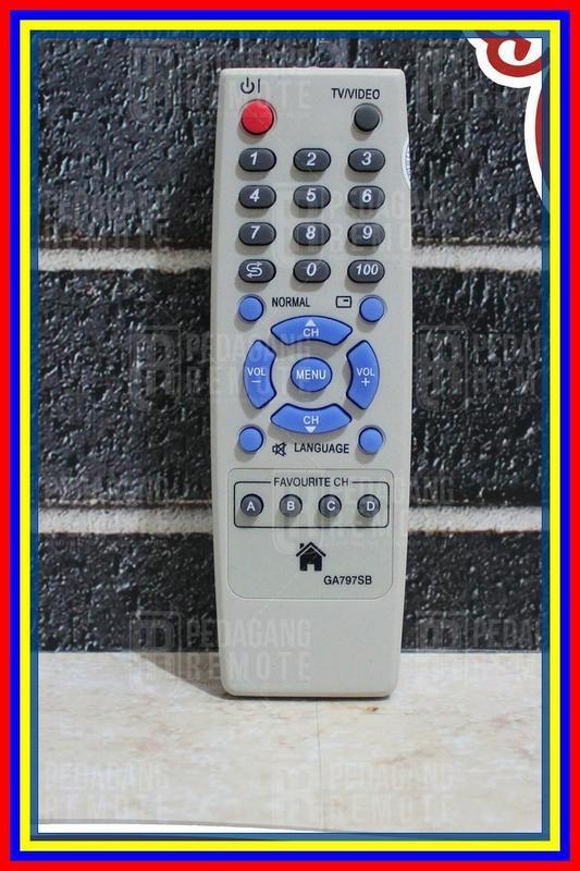 Remot Remote Tv Sharp Tabung Slim Flat Ga797Sb Kw Super Replika