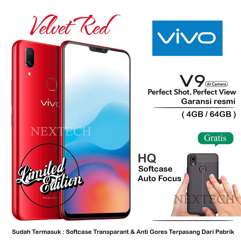 Vivo V9 4GB RAM 64GB ROM - Velvet Red - Limited Edition