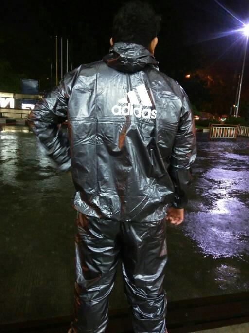 Jas Hujan Jaket Sauna Stelan Setelan Multifungsi Adidas XXXL Jumbo