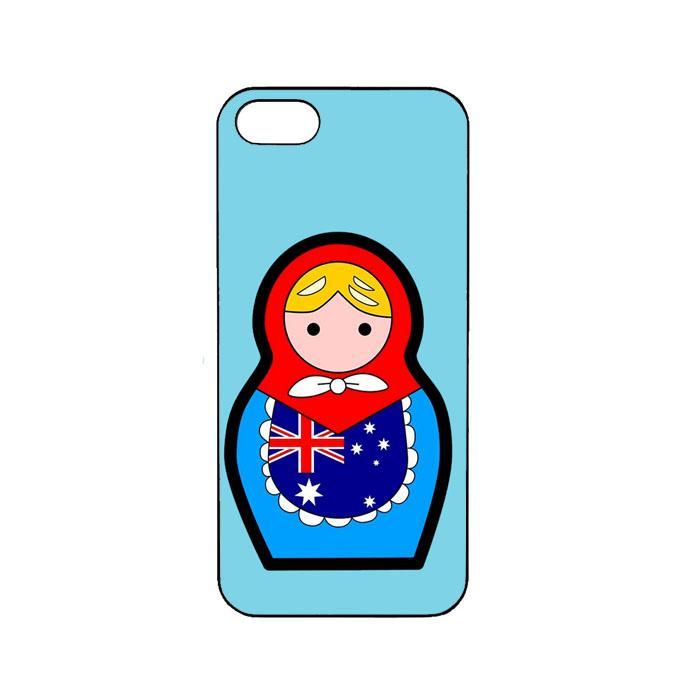Casing Custom iPhone 4 4s Australia Matroska Fifa 2018 L2555
