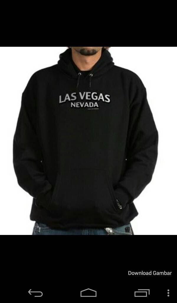 HARGA PROMO!!! sweater/jaket/zipper/hoodie nevada las vegas (black) - duMMUJ