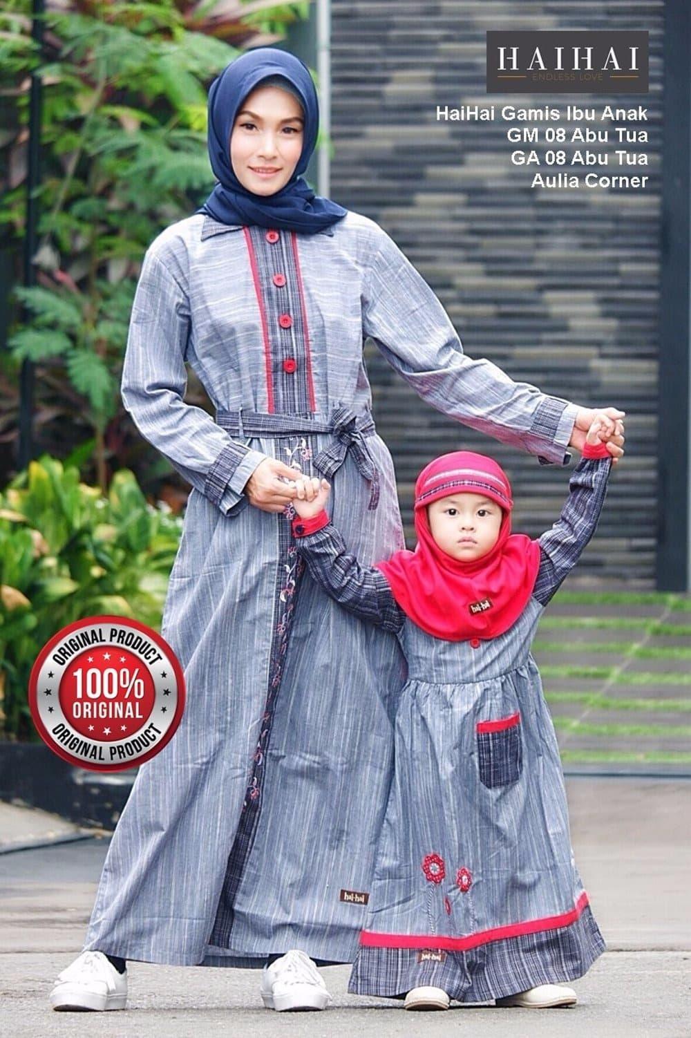 EKSLUSIF MURAH Model Baju Muslim Modern HaiHai GM 08 GA 08 ABU ORIGIN