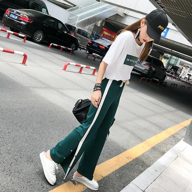 Kaos Korea Fashion Style Baru Kulot Kasual Kebugaran