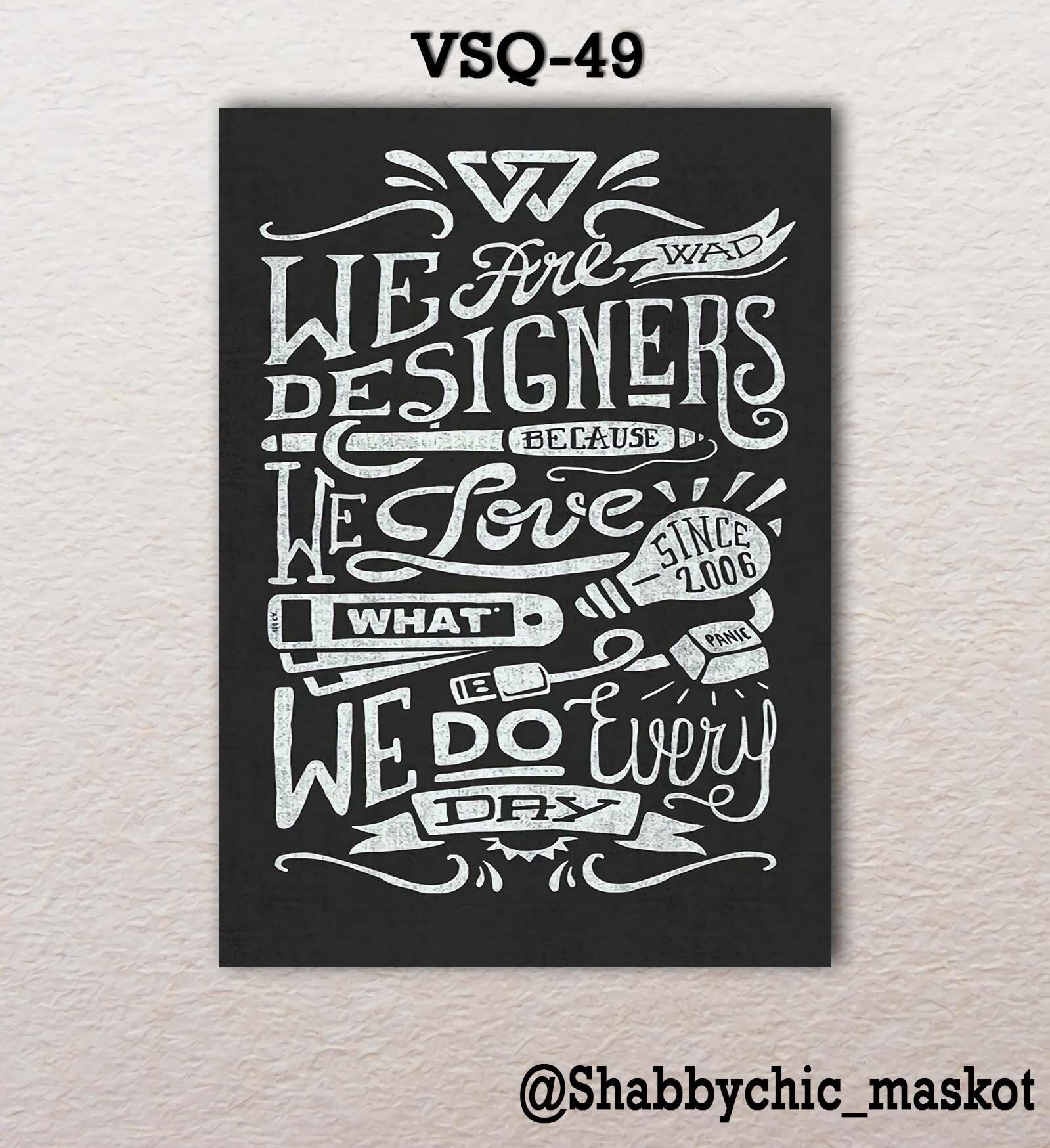 Vasty Hiasan Dinding Kayu Wall Decor Poster Super Quotes VSQ-49
