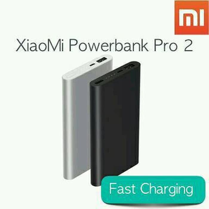 New Versi PowerBank Xiaomi Mi Power 2 10000mah Slim dan Fash Charging