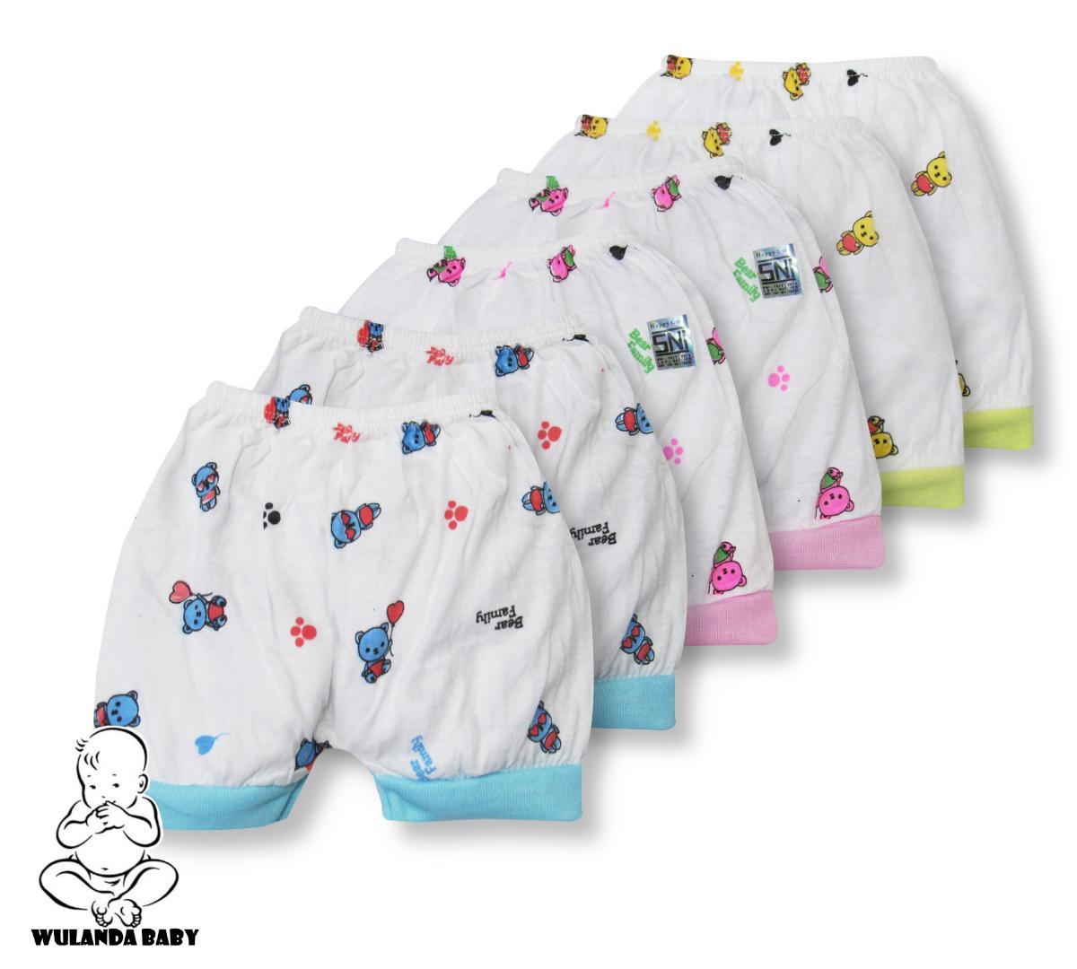 Wulanda 6 Pcs Celana Pendek Anak Bayi Laki Laki Dan Perempuan Segi Empat Kotak Baby Lucky By Wulanda Baby.