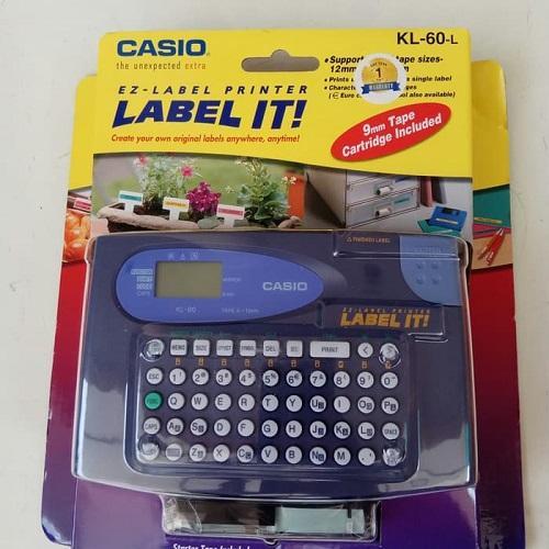 Casio Label Printer Label It Ez-Label Mesin KL60L KL-60-L Original