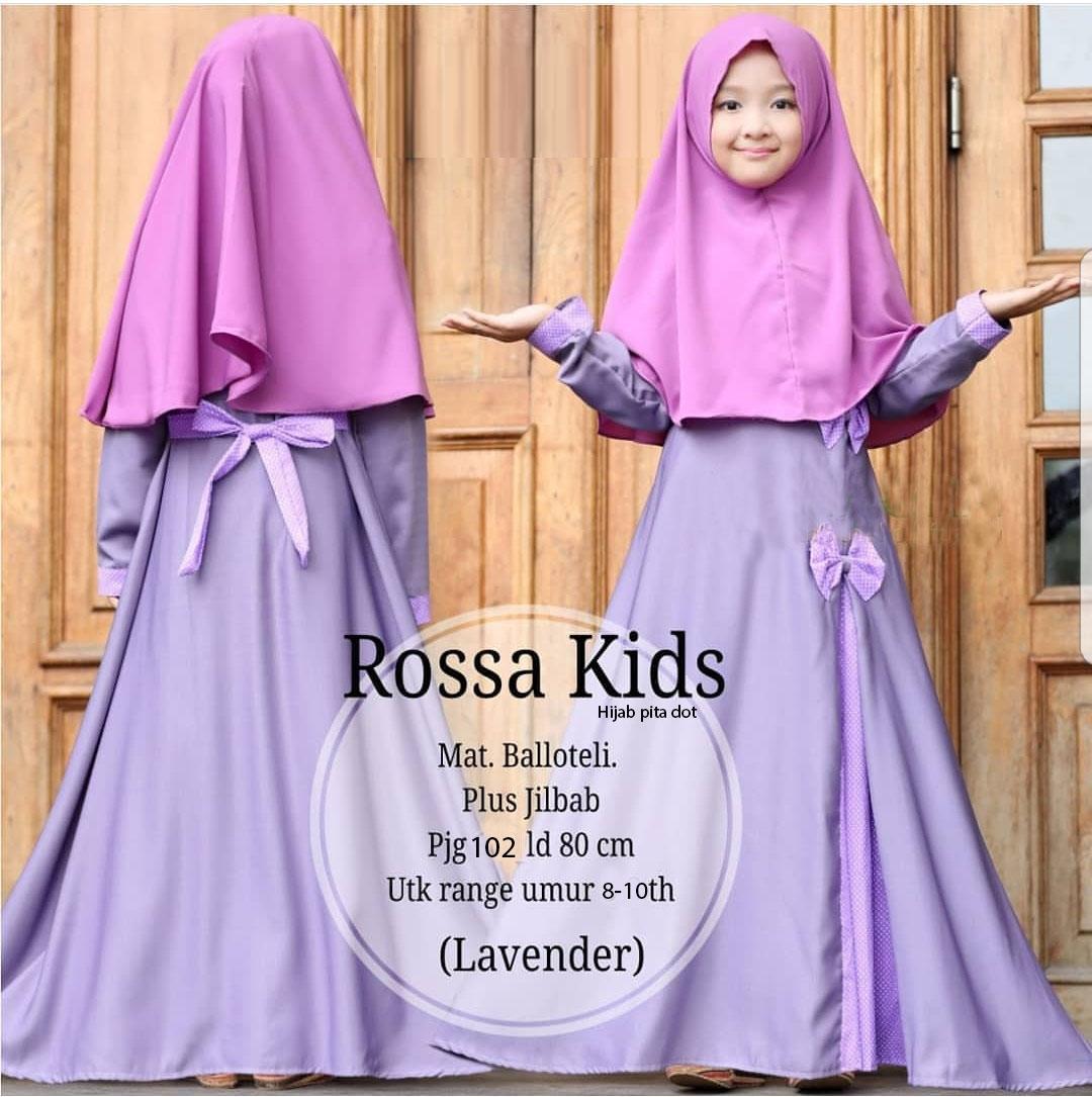 NCR-Baju Anak Cewek/ Baju Muslim Anak Cewek/ Baju Maxi Anak/ Baju Gamis Anak Cewek/ Hijab Rose Kids