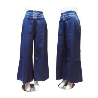 Price Checker NHM - Celana Kulot Jeans Alma variasi kancing pencari harga - Hanya Rp72.675