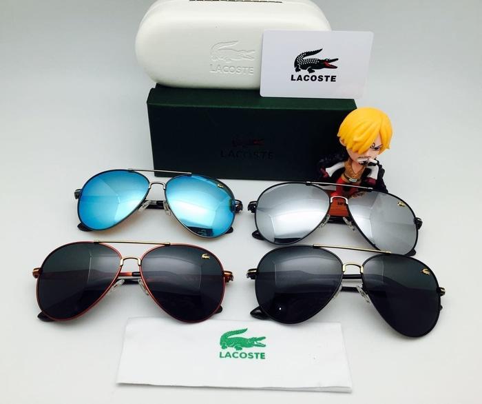 Hot Item!! Kacamata Hitam Lacoste 185 Aviator Sunglasses Pria Wanita - ready stock