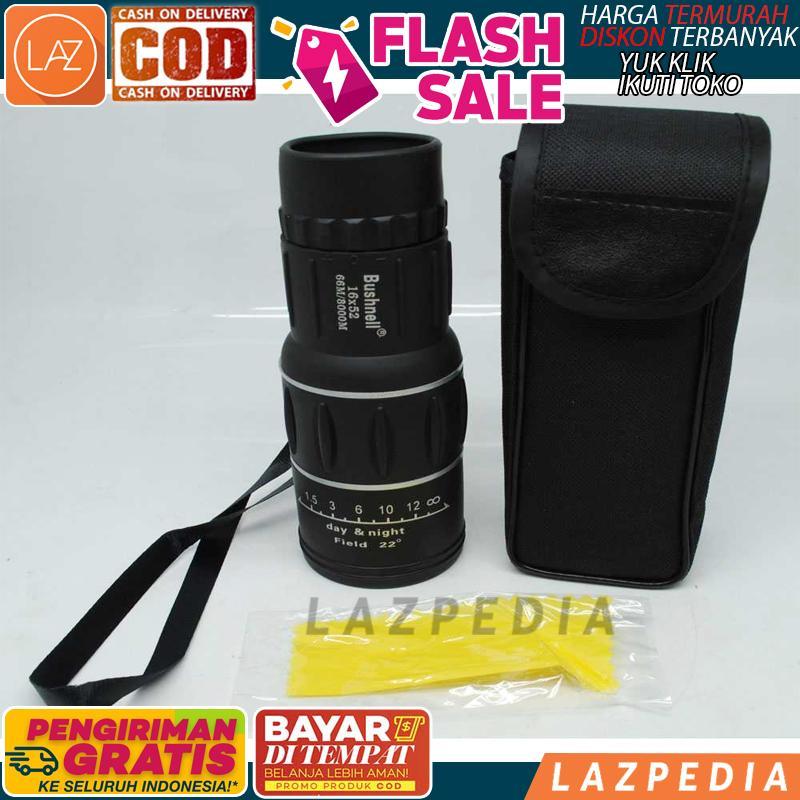 COD/BYR DITEMPAT - [HITAM] Bushnell Teropong Monokular 16x52 Focus & Zoom Lens