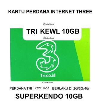 Beli sekarang TRI Kartu Perdana KEWL 10GB Plus Banyak Bonus terbaik murah - Hanya Rp13.756