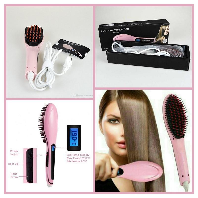 Sisir Elektrik Pelurus Rambut - Sisir Catok Rambut Elektrik Hair Straightener HQT-906